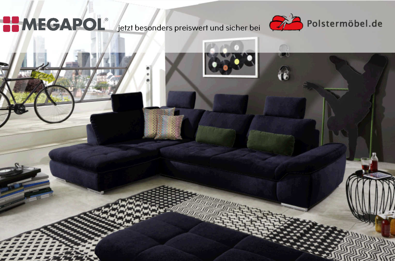 megapol champ polsterm. Black Bedroom Furniture Sets. Home Design Ideas