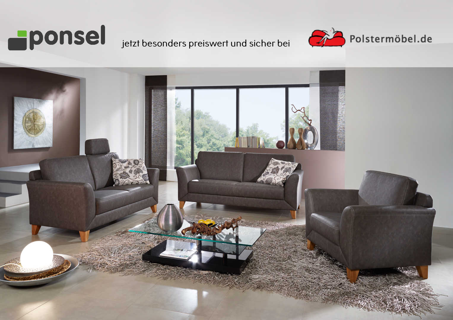 ponsel stoff venturo s 839 havanna stoff polsterm. Black Bedroom Furniture Sets. Home Design Ideas