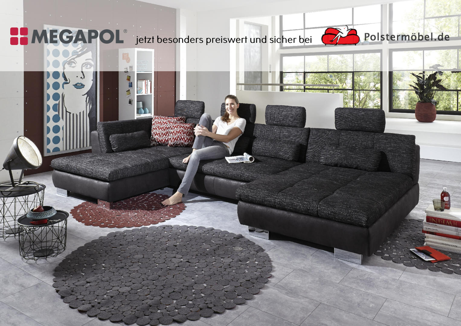 megapol timeless polsterm. Black Bedroom Furniture Sets. Home Design Ideas