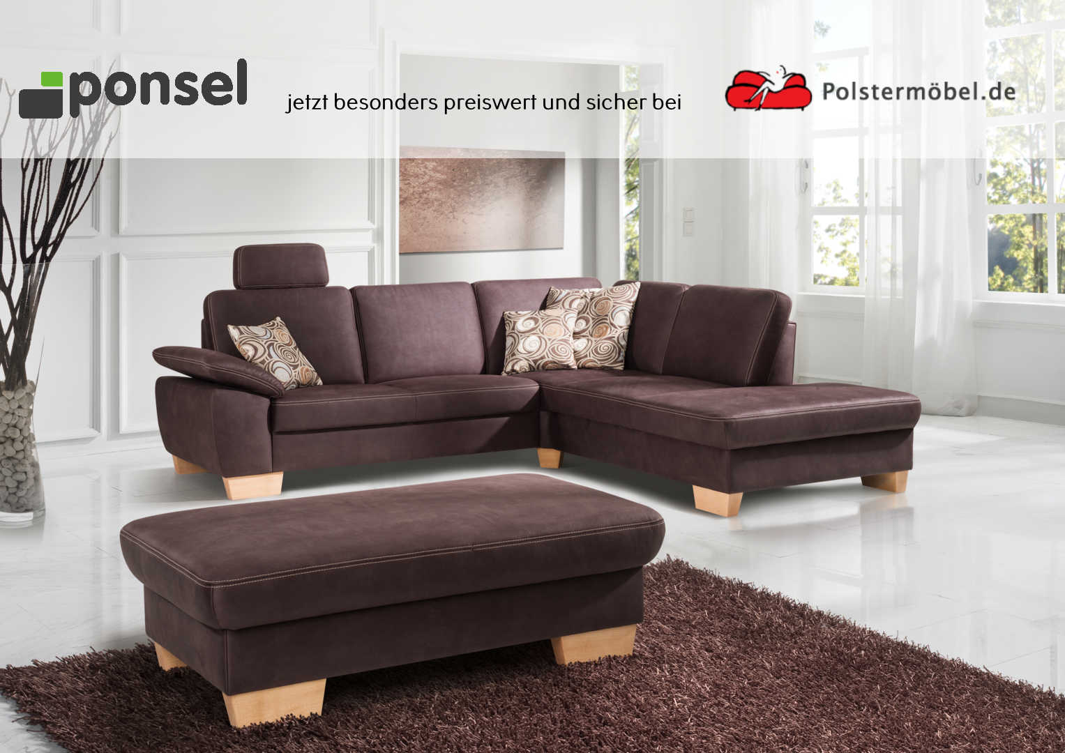 ponsel leder chalet l 838 durban leder polsterm. Black Bedroom Furniture Sets. Home Design Ideas