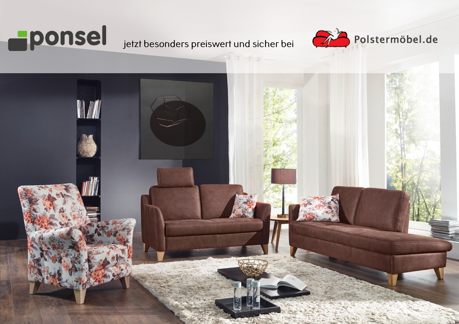ponsel leder venturo l 894 burnie leder polsterm. Black Bedroom Furniture Sets. Home Design Ideas